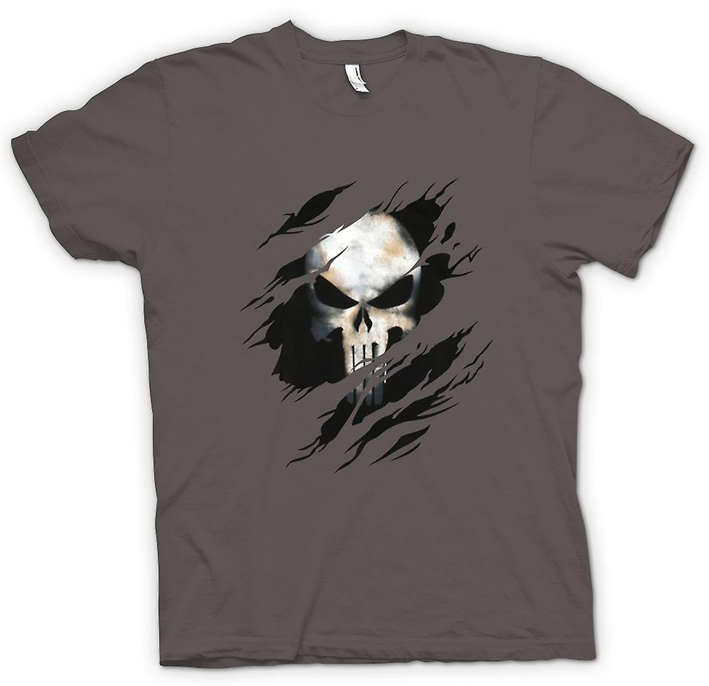 Womens T-shirt - Punisher - Riss-Effekt