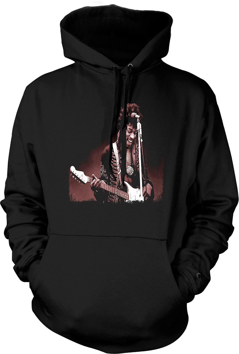 Para hombre con capucha - Jimi Hendrix - Sepia - retrato