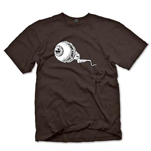 Mens T-shirt - Eyeball Black & White Design