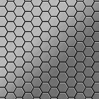 Mosaico de metal sólido Acero inoxidable ALLOY Honey-S-S-B