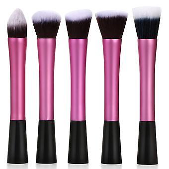 Hot Pink 5PC Pack Makeup Brush Set Blending Brush Kit - By TRIXES