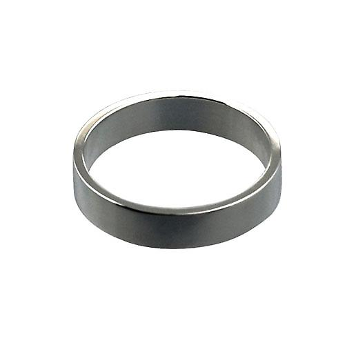 Platinum 4mm plain flat Wedding Ring Size O
