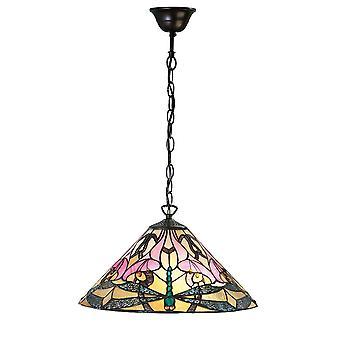 Ashton middellange Tiffany stijl één licht plafond hanger - interieurs 1900 63923