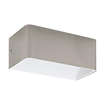 Eglo - Sania 3 LED Satin Nickel 200mm su / giù EG96302 luce parete