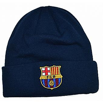 FC Barcelona Woven turned up Beanie Hat - official product    (bb)