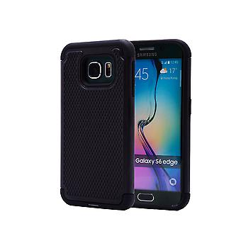 Shock Proof Case + Stift für Samsung Galaxy S6 Edge (SM-G925) - schwarz