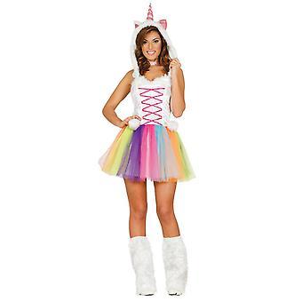 Womens Unicorn Fancy Dress Costume