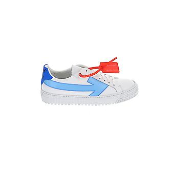 Off-white White/blue Leather Sneakers