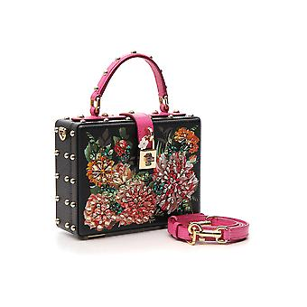 Dolce E Gabbana Multicolor Leather Handbag