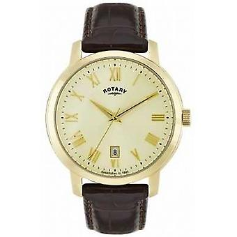 Rotierende Mens Sloane Gold Tone GS02462/03 Uhr