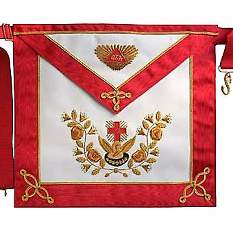 Masonic Scottish Rite AASR cuir tablier 18ème degré brodé à la main