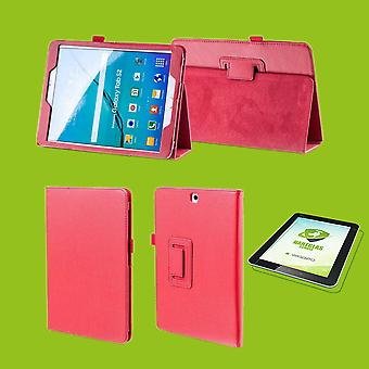 For Samsung Galaxy Tab S5e 10.5 T720F Case Cover Bag Red Art Art Leather Case New + 0.3 mm Hard Glass