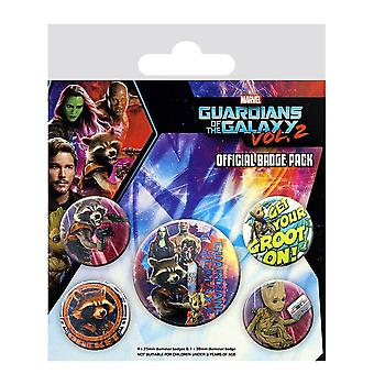Guardians of the Galaxy Vol. 2 Rocket & Groot Badge Pack