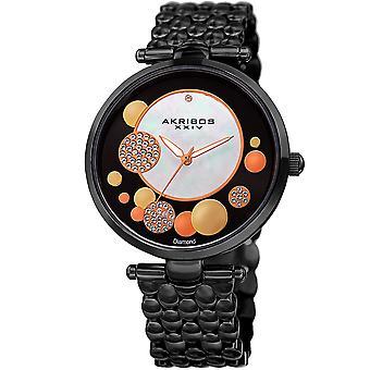 Akribos XXIV Women's Mother of Pearl Dial Bracelet Watch  AK963BK