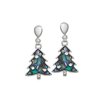 Éternelle Collection Christmas Tree coquillage Paua fermoir goutte Clip boucles d'oreilles