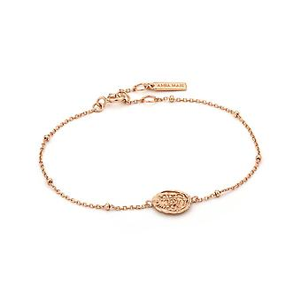 Ania Haie Rose Gold Plated Sterling Silver Coins 'Emblem' Beaded Bracelet