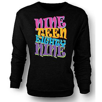 Kids Sweatshirt Nineteen Eighty Nine 1989 - Cool