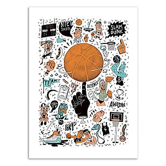 Konst-affisch-basket-Sarah Matuszewski 50 x 70 cm