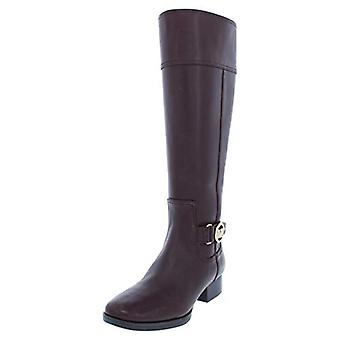 MICHAEL Michael Kors Womens Harland Leather Wide Shaft Riding Boots