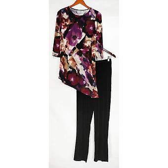 Attitudes by Renee Set Radiant Knit Tunic & Pants Purple A281097