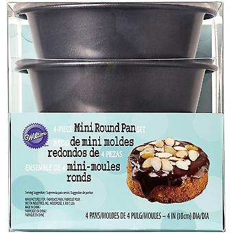 Mini Round Pans In Pet Box 4pcs- W50117