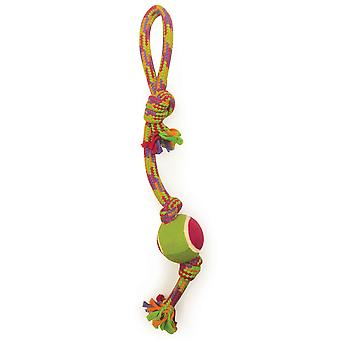 Crinkle Rope Tug W/Tennis Ball-  4383