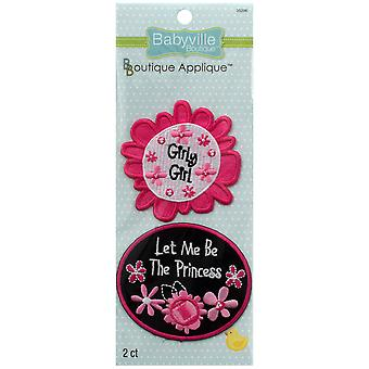 Babyville Boutique applications 2 Pkg Pink Floral 350 a 96