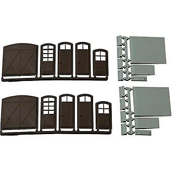 H0 Gates, Doors, Stairs, Ramps Plastic assembly kit