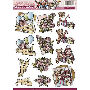 Find It Trading Yvonne Creations Punchout Sheet-Celebration SB10090