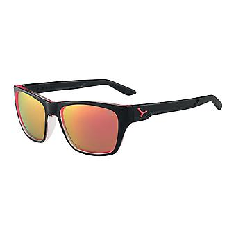 Cebe Hacker Sunglasses (Shiny Black Pink Frame 1500 Grey FM Pink Lens)