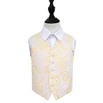 Boy's Gold Scroll Wedding Waistcoat