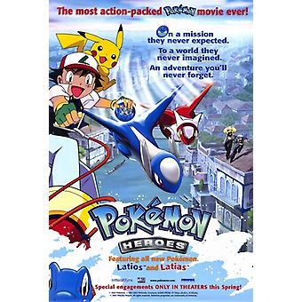 Pokemon Heroes Movie Poster Print (27 x 40)
