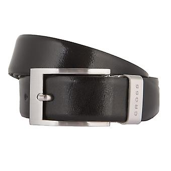 CROSS belts men's belts leather men leather belt Black/Brown 2817