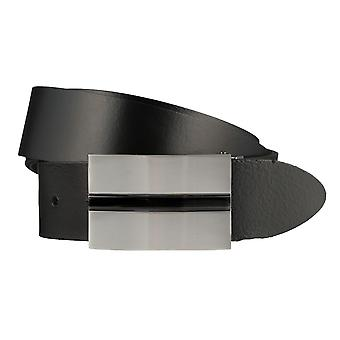 BERND GÖTZ belts men's belts leather belt black shortened 681
