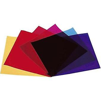 Lighting filters 6-piece set Eurolite Red, Blue, Green, Yellow, Purple, Violet Suitable for (stage technology)PAR 64, PA
