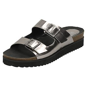 Damer ned til jorden tyk eneste sandaler