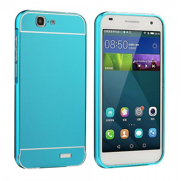 Aluminium bumper 2 pieces with cover blue for Huawei Ascend G7