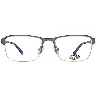 Animal Jesse Semi Rimless Rectangle Glasses In Light Gunmetal