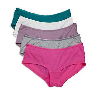 Camille Five Pack Of Cotton Modal Pink Colour Mix Shorts