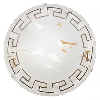 Eglo Twister Greek Marble Glass Ceiling Light