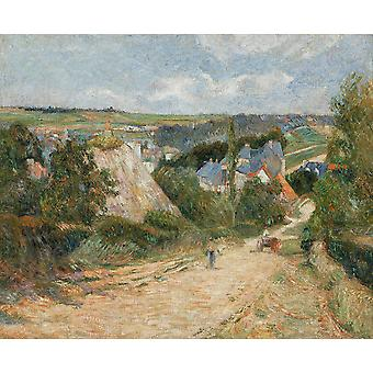 Paul Gauguin - Entrance to the Village of Osny Poster Print Giclee
