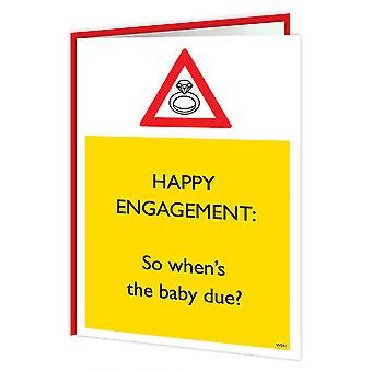 Brainbox Candy Happy Engagement, Baby Due Card