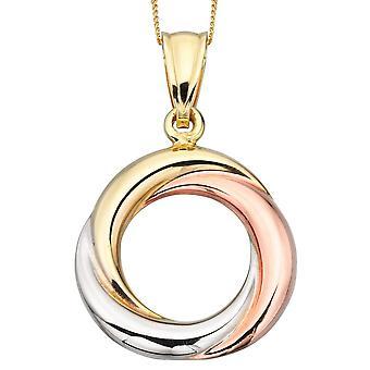 9 CT oro bianco e oro rosa, oro con collana originale di lusso