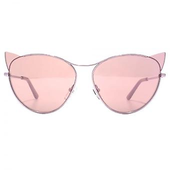 Karl Lagerfeld Kitten Cateye Sunglasses In Shiny Light Purple