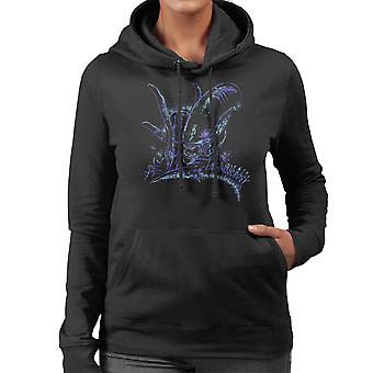 Aliens Back To The Primitive Horror Women's Hooded Sweatshirt