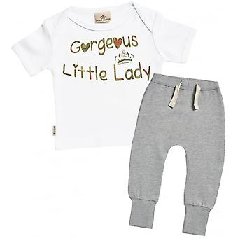 Spoilt Rotten Gorgeous Little Lady T-Shirt & Joggers Outfit Set