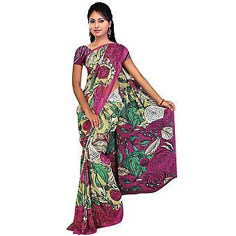 Tela de DITI Georgette impresos Casual sari Sari Bellydance