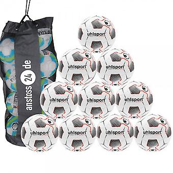 10 x Uhlsport training ball - TRI CONCEPT 2.0 SOCCER PRO includes ball sack