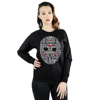 Friday 13th Women's Jason Text Mask Sweatshirt