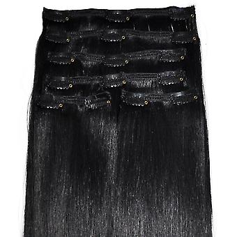 #1 Jet Black - Clip-in Hair Extensions - Full Head